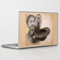 jared leto Laptop & iPad Skins featuring Jared Leto and Ripley the monkey by Jenn