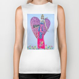 Sweettarts For My Sweetheart - Bright Colors Biker Tank