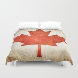 Canada Flag (Grunge) Duvet Cover