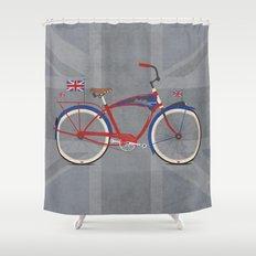 British Bicycle Shower Curtain
