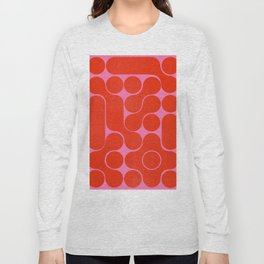 Abstract mid-century shapes no 6 Long Sleeve T-shirt