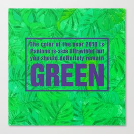 Green and Ultra Violet Canvas Print