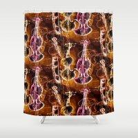 violin Shower Curtains featuring Violin 5 by Emma Stein