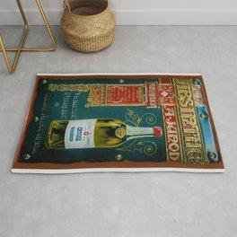Vintage Absinthe Liquor Aperitif A. Junod Pontarier Advertising Poster Rug