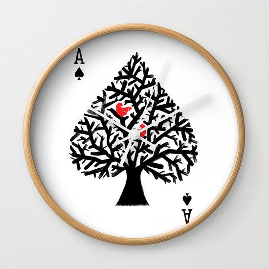 Ace of spade Wall Clock