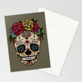 """SUGAR SKULL"" Stationery Cards"