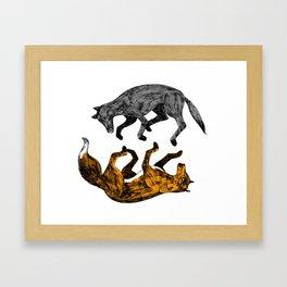 WOLF-FOX Framed Art Print