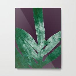 Green Fall Fern Purple Metal Print