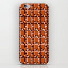 8-bit bricks iPhone & iPod Skin