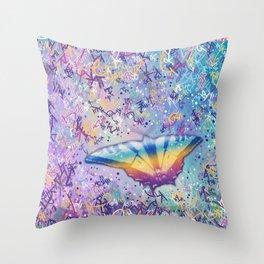 Vibrant Little Butterfly Throw Pillow