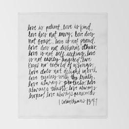 love is patient, love is kind Throw Blanket