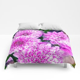 Beautiful Pink Flowers Comforters