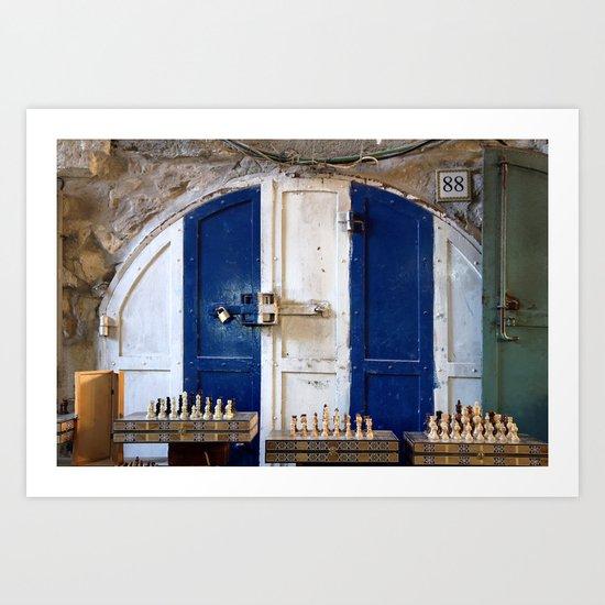 Jerusalem Doors 2 Art Print