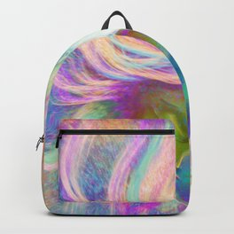 Rainbow Girl | Colourful Lady | Painting | Poster Backpack