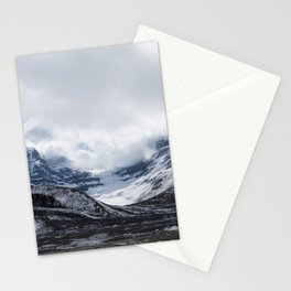 Jasper Glaciers | Landscape Photography | Mountains and Clouds | Skyscape Stationery Cards