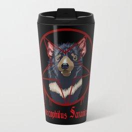 Tasmanian Devil Worshipping Travel Mug