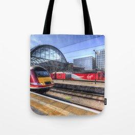 Kings Cross London Trains Tote Bag