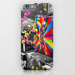 NYC HighLine V-J Day Mural (Mural by Eduardo Kobra) iPhone Case