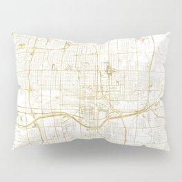 Oklahoma City Map Gold Pillow Sham