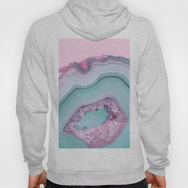 Sea Blue and Pink Agate Hoody