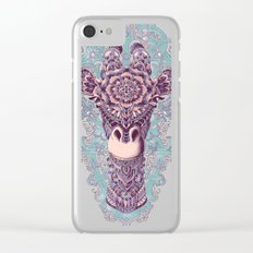 Giraffe (Color Version) Clear iPhone Case