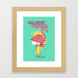 Avalanche Tropical Framed Art Print