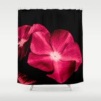 ruby Shower Curtains featuring Ruby by Loredana