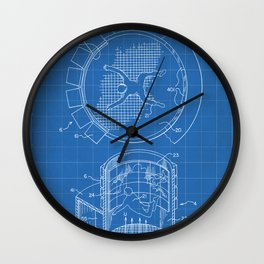 Skydiving Wind Tunnel Patent - Sky Diving Art - Blueprint Wall Clock