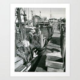 Galilee Docks, Naragansett, Rhode Island Art Print
