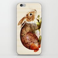 bunny iPhone & iPod Skins featuring Bunny by TatiAbaurreDesigns