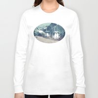 snowboarding Long Sleeve T-shirts featuring Lift Me Up by AmandaRoyale