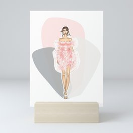 Pink Fashion Fairytale Mini Art Print
