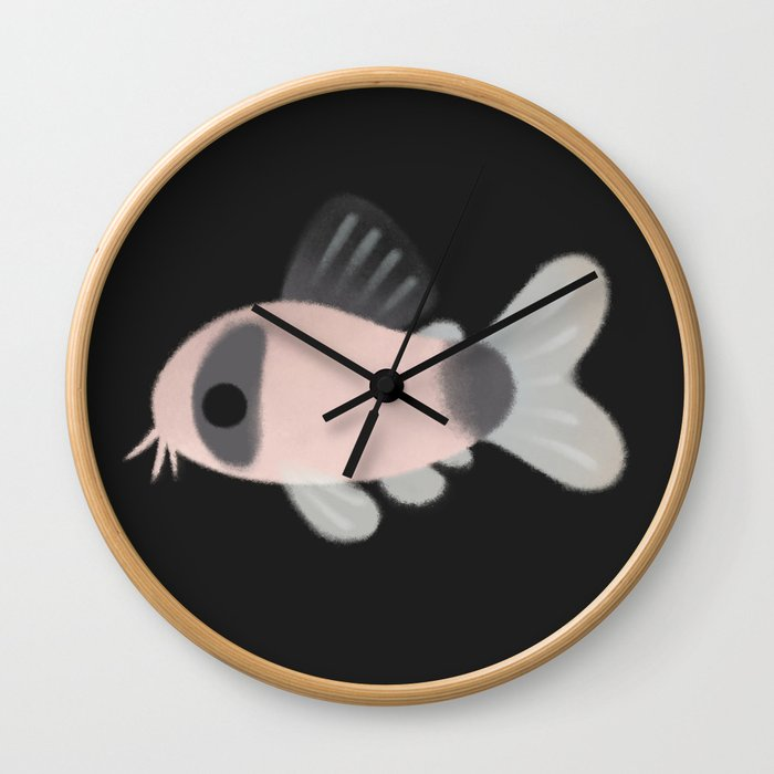Corydoras! - black Wall Clock