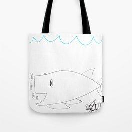 Burping Whale Tote Bag