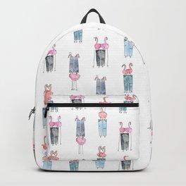 Flamingos and Pants: Iterations Backpack