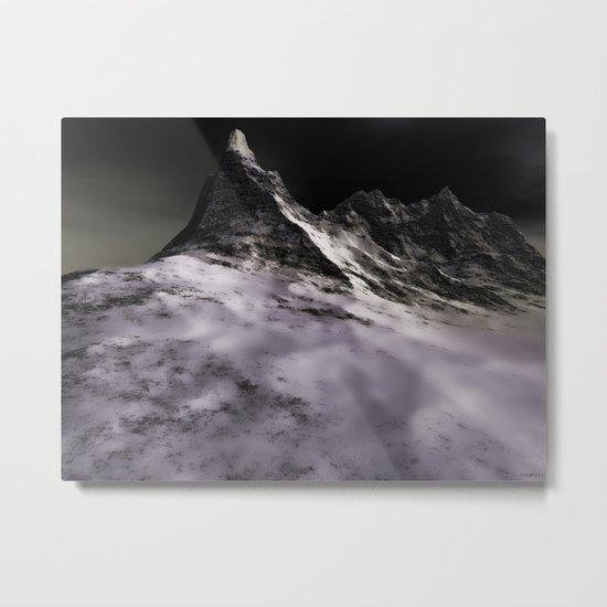 Icy Peak Metal Print