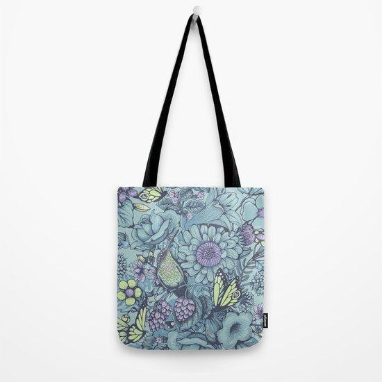 Beauty (eye of the beholder) - aqua version Tote Bag