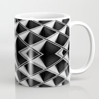 grid Mugs featuring Grid by blurdvizionz