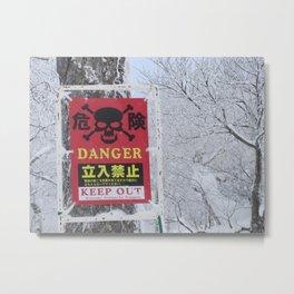 Snowy Danger Metal Print