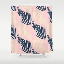 Pink Palms Shower Curtain