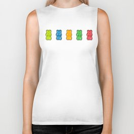 Rainbow Gummy Bears Biker Tank