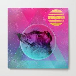 Dreamer - Cat Liquid  Metal Print