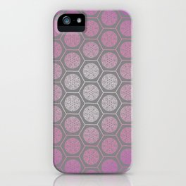 Hexagonal Dreams - Purple Pink Gradient iPhone Case