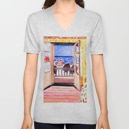 Henri Matisse Interior at Etretat Unisex V-Neck
