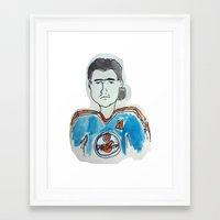 hockey Framed Art Prints featuring Hockey by short stories gallery