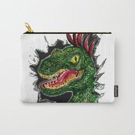 Watercolor velociraptor portrait Carry-All Pouch
