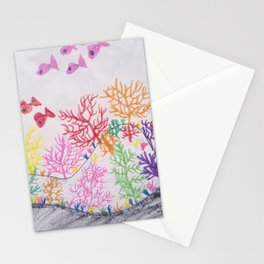 corals drawn by pascal Stationery Cards