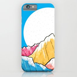 Blue Sky Mountains 2 iPhone Case