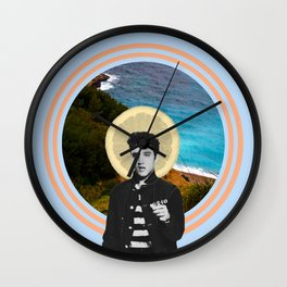 Patron Saint of Rock Wall Clock