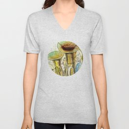 Tubas playing Unisex V-Neck
